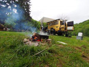 Mijn kampementje in Duitsland