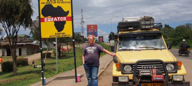 Dag 106-110 (10-14 dec.): Angstzweet langs de weg, de evenaar over in Nanyuki, en klussen op Mount Kenya