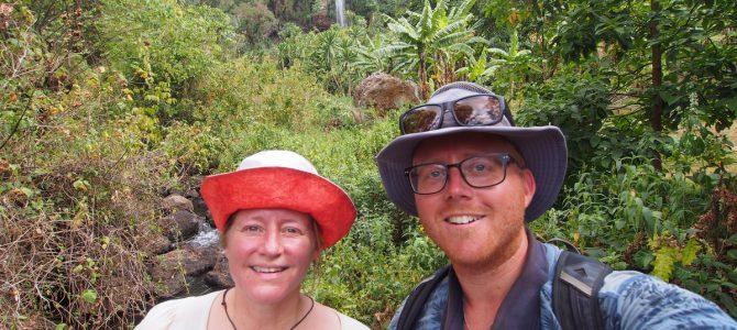 Dag 146-150 (19-23 jan.): Naar het noorden met Patricia, Nyero rotstekeningen, Sipi Falls en 2 lekke banden
