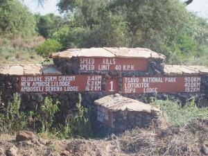 PC298679 - Wegwijzer Amboseli NP