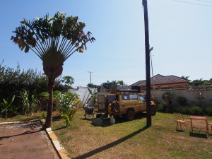P1180424 - Kampje bij Entebbe Backpackers