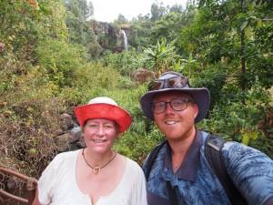 P1210740 - Selfie bij tweede waterval Sipi Falls