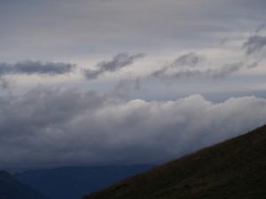 Dreigende luchten bij de Col du Glandon
