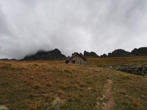 Herdershutje bij top van de Col du Glandon