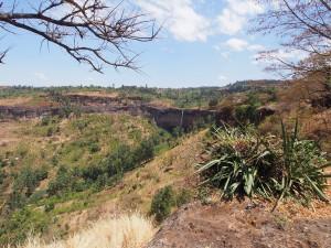 P1210724 - Uitzicht vanaf camping op Sipi Falls