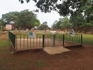 P1301773 - Hok voor kamelen en vervetapen! Entebbe dierentuin