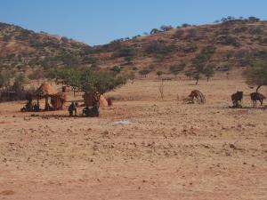 P6171951 - Himba dorpje onderweg door Kaokoveld